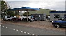 SJ5541 : Waymills Garage MOT testing station, Whitchurch by Jaggery