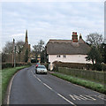 TL4765 : Landbeach: Milton Cottage and frosty verges by John Sutton