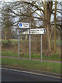 TL2012 : Roadsigns on the B653 Marford Road by Adrian Cable