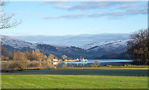 NY3816 : Grassed field at south end of Ullswater by Trevor Littlewood