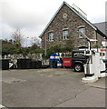 SO2118 : Tyres and drums, Crickhowell by Jaggery