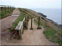 TA1281 : Footpath junction on Carr Naze by JThomas