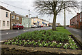 NZ1251 : Flower bed, Front Street, Leadgate by Trevor Littlewood
