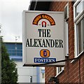 SJ9399 : Sign of The Alexander by Gerald England