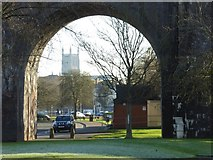 SO8455 : View to Worcester Cathedral by Philip Halling