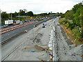 TQ5781 : M25 road works by Robin Webster