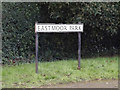 TL1413 : Eastmoor Park sign by Adrian Cable