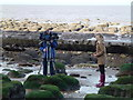 TF6741 : TV crew reporting on dead sperm whale at Hunstanton - 01 by Richard Humphrey