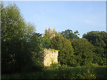 ST6390 : St. Mary's church tower and the walls of Thornbury Castle by Jonathan Thacker