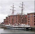SJ3489 : Stavros S Niarchos in Canning Dock by The Carlisle Kid