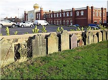 NZ2364 : Gravestones of former St Paul's Church, Tindal Street by Andrew Curtis