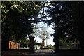 TQ3094 : Grovelands Park exit to Broad Walk by John Salmon