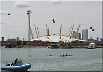 TQ3980 : O2 Arena seen from Royal Victoria Dock by N Chadwick