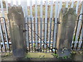 SJ2969 : Northern gateposts for the demolished Custom House Lane CP School by John S Turner