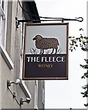 SP3509 : The Fleece (b) - sign, 11 Church Green, Witney, Oxon by P L Chadwick