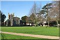 TL3540 : Royston: Priory Gardens and the parish church by John Sutton