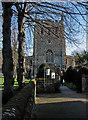 TL3540 : Royston: church gate by John Sutton