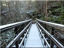 NH6271 : Footbridge over the Contullich Burn by John Allan