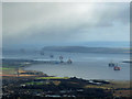 NH6169 : Oil rigs in the Cromarty Firth by John Allan