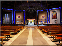 SJ3590 : Liverpool Metropolitan Cathedral, The Main Aisle by David Dixon
