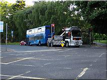 SU4212 : Towing a bus, East Park Terrace by Hugh Venables