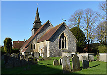 SU5355 : Church of All Saints, Hannington, Hampshire by Oswald Bertram