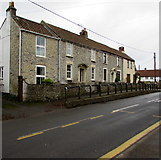 ST6976 : Row of late 18th century houses, Abson Road, Pucklechurch by Jaggery
