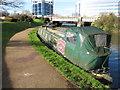 TQ1777 : Beulah May, narrowboat on Grand Union Canal winter moorings by David Hawgood