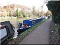 TQ1777 : Flying Kipper, narrowboat on Grand Union Canal winter moorings by David Hawgood