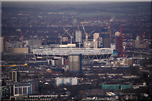 TQ3783 : London : Southwark - Olympic Stadium from The Shard by Lewis Clarke