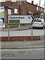 TQ8092 : Roadsign on Rawreth Lane by Adrian Cable