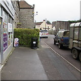 ST6976 : Dual purpose bin outside Pucklechurch Convenience Store by Jaggery