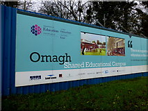 H4573 : Hoarding, Omagh Shared Education Campus by Kenneth  Allen