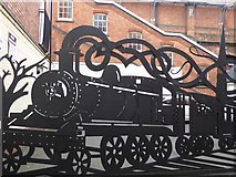 SO8455 : A locomotive gate by Philip Halling