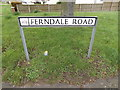 TQ8092 : Ferndale Road sign by Adrian Cable