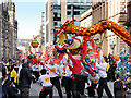 SJ8497 : Dragon Parade on Princess Street by David Dixon
