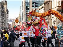 SJ8497 : Dragon Parade on Princess Street by David Dixon