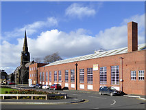SO9098 : Factory building in St Mark's Street, Wolverhampton by Roger  Kidd