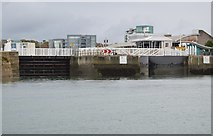 SX4854 : Sutton Harbour Entrance by N Chadwick