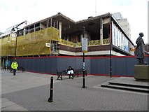 SO8554 : Redevelopment work on the Lychgate shopping centre by Philip Halling