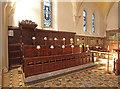 TQ4296 : St John the Baptist, Loughton - Chancel stalls by John Salmon
