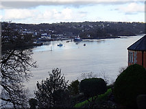 SH5571 : A view across Menai Strait from the south side by John Lucas