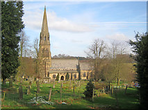 SK2569 : St Peter's Church at Edensor by Trevor Rickard
