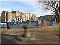 TQ3481 : Drinking Fountain in Vallance Gardens by Des Blenkinsopp