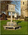 SK8707 : Egleton village sign by Alan Murray-Rust