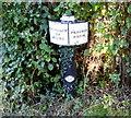 SJ5779 : Trent & Mersey Canal Milepost at Preston Brook by Mat Fascione