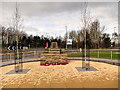 SD4210 : RNAS Burscough (HMS Ringtail) Memorial Garden and Monument by David Dixon