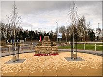 SD4210 : RNAS Burscough (HMS Ringtail) Memorial Garden and Monument by David Dixon
