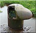 NS3274 : Broken mooring bollard by Thomas Nugent
