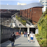 SP0786 : All mirrors, no smoke – footpath to new New Street station entrance, Birmingham by Robin Stott